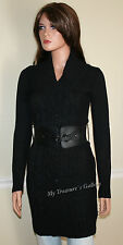 NEW Guess Logo Belted Sweater Dress Tunic Top Black, NWT, Size XS