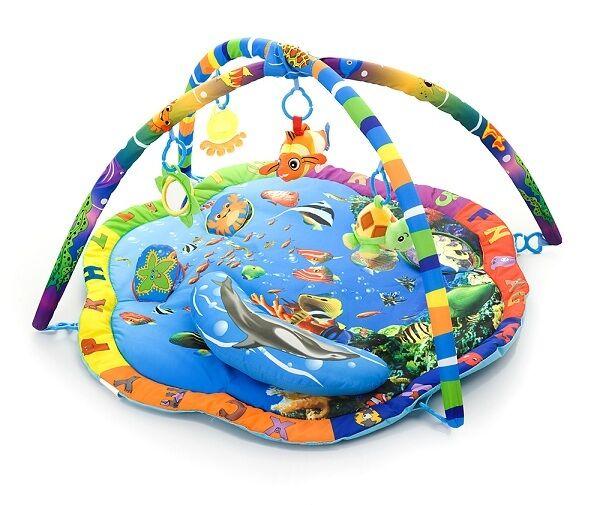 KRABBELDECKE MIT MUSIK SPIELBOGEN Erlebnisdecke Babykrabbeldecke Spieldecke