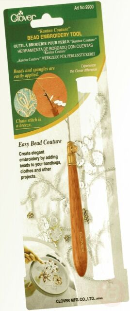 wood Brown Clover Kantan Couture Bead Embroidery Tool 1