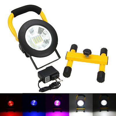 30W Rechargeable Flood Spot Work Light Lamp Cordless 3000lm 24LED RGB Outdoor