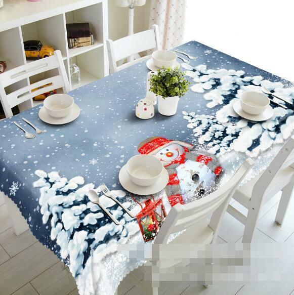 3D Snow tree 9 Tablecloth Table Cover Cloth Birthday Party Event AJ WALLPAPER AU