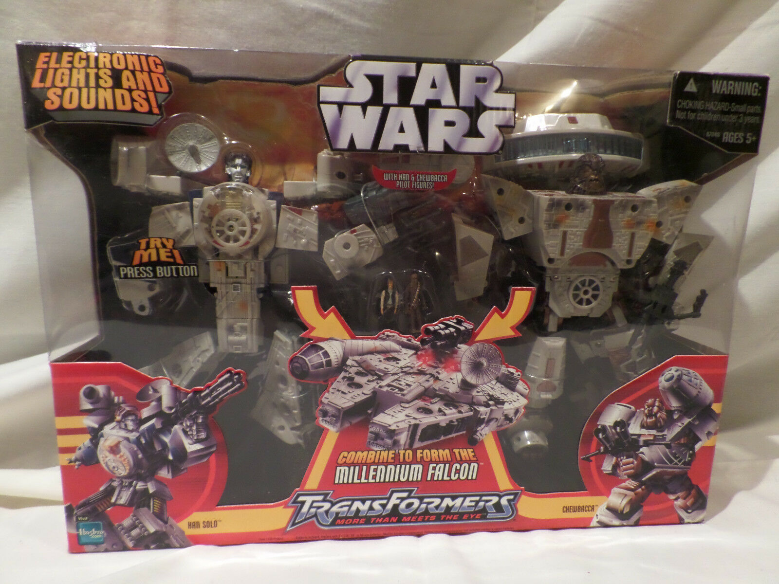 Star - wars - transformatoren  millennium - falken - actionfigur 2006 hasbro
