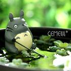 Vivid Studio Ghibli My Neighbor Totoro Fishing Resin Figure Micro Landscape Doll