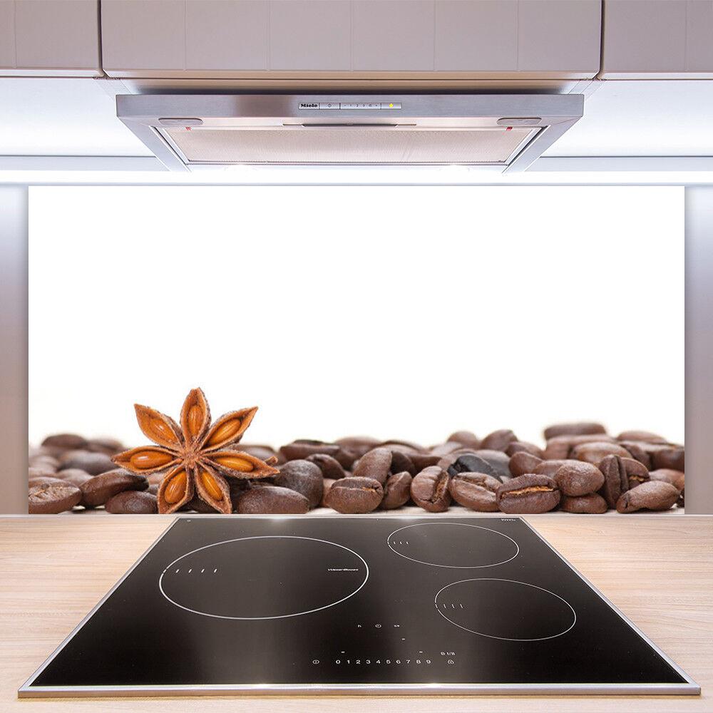 Crédence de cuisine en verre Panneau Paroi 100x50 Cuisine Café En Grains