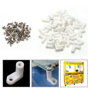 50pcs-arcade-L-Type-PCB-Mounting-Feet-with-Screw-for-JAMMA-MAME-Game-PCB-Board