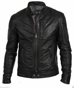 Noora-Men-039-s-Motorcycle-Leather-Jacket-Lambskin-Biker-Highyway-Jacket-Slim-NI-26