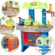 NEW KIDS ELECTRONIC PRETEND PLAY KITCHEN COOKER FOOD PAN SET COOKING TOY PLAYSET