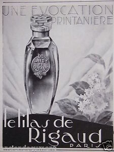 PUBLICITE-1929-LE-LILAS-DE-RIGAUD-UNE-EVOCATION-PRINTANIERE-ADVERTISING