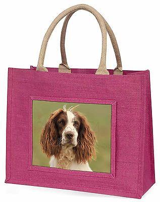 Springer Spaniel Hund Große Rosa Einkaufstasche Weihnachten Geschenkidee,