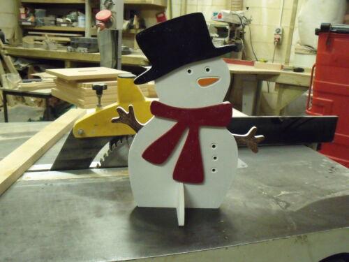 Snowman MDF wooden freestanding Decoration  Unpainted Christmas Xmas 290mm Tall