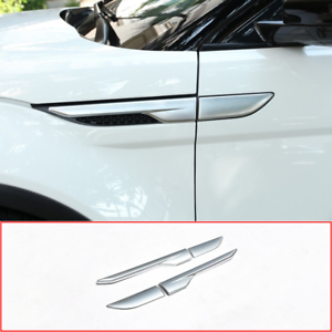 For Land Rover Range Rover Evoque 2012-2018 Chrome Fender Side Air Vent Cover