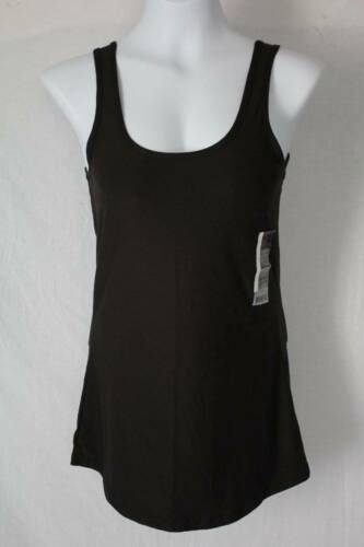 Black Sleeveless Scoop Neck Shirt Stretch NEW Womens Juniors Tank Top 2X 19
