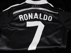 buy popular b3c6d cf78f Details about Yohji Yammamoto Real Madrid Ronaldo #7 LFP Black Soccer  Jersey Button Sz 28
