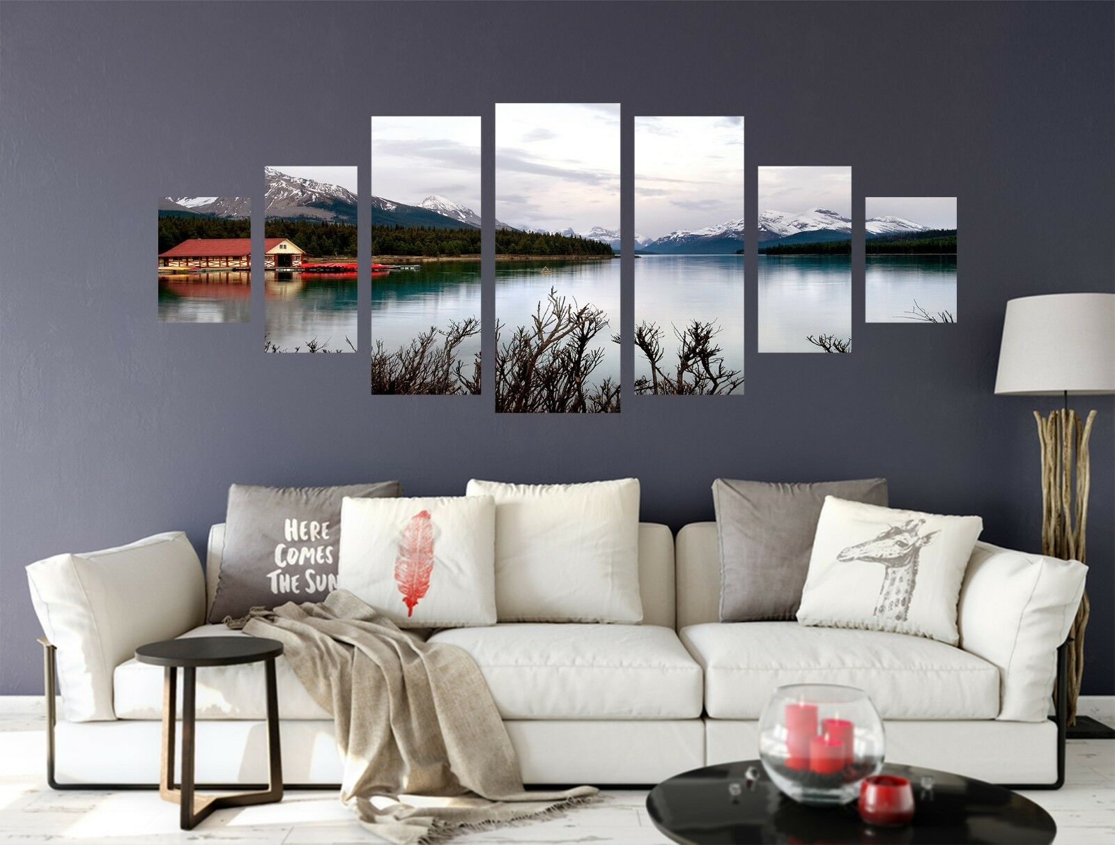 3D Lake Reed Mountain 123 Unframed Print Wall Paper Deco Indoor AJ Summer