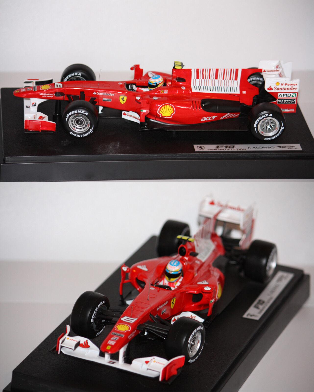 Hotwheels F1 Ferrari F10 F. Alonso 2010 1 18 T6287 13