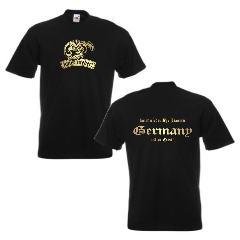 T-Shirt GERMANY kniet nieder nieder nieder Ihr Bauern, S - 12XL (WMS09-02a) | eine breite Palette von Produkten  | Attraktives Aussehen  f8fd66