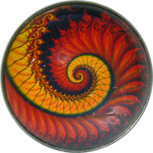 """Crystal Dome Button Mystical Spiral Lg Sz 1 /& 3//8/""""  MS 36 FREE US SHIPPING"""