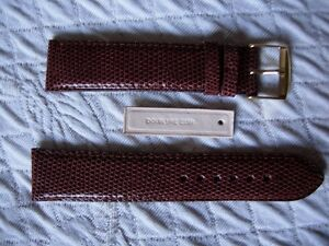 20 Mm Sehr Schöne Qualität Armband Aus Eidechse Echt Braun Hellbraun
