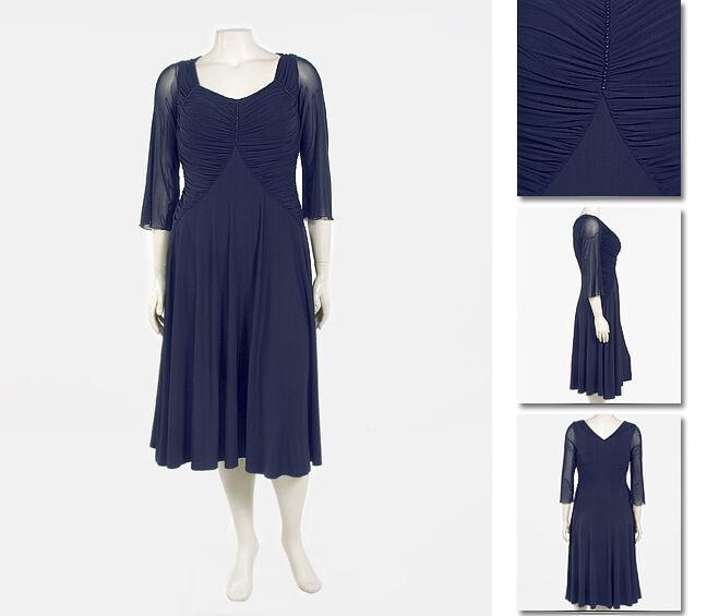 NEW Zaftique SHIRRED SOPHISTICATE Dress NAVY bluee 1Z 2Z 3Z 16 20 24  XL 1X 2X 3X