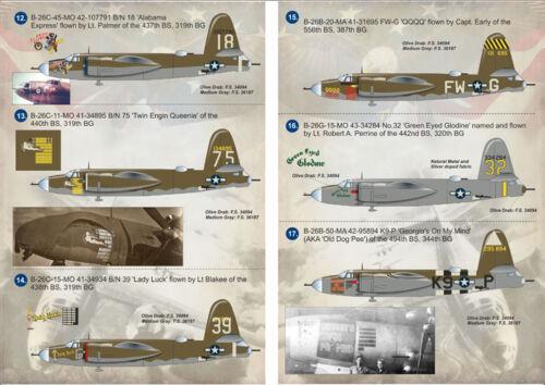 Decal for Martin B-26 Marauder Print Scale 1:144 144-007