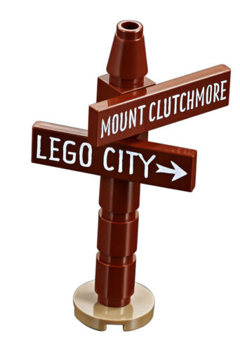 LEGO® Minifiguren Straßenschild nach LEGO City aus dem Set 60202