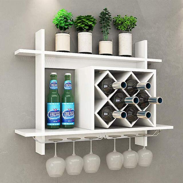 Wood Wall Mounted Wine Holder Rack