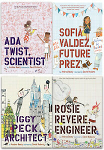 Andrea-Beaty-Collection-4-Books-Set-Rosie-Revere-Engineer-Ada-Twist-Scientist