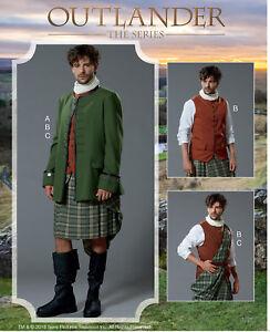 M7736-McCall-039-s-7736-Sewing-Pattern-Costume-Scottish-Kilt-Gaelic-Men-Renaissance