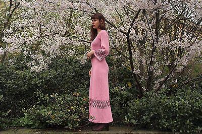 Intelligente Porto Di Gian Abito A Maglia Abito Stretch 70ies True Vintage Womens Knitted Dress-mostra Il Titolo Originale