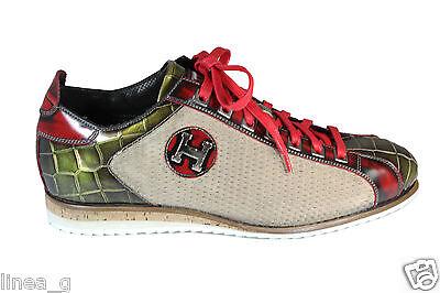 HARRIS python and suede sneakers S/S 2016 scarpe in camoscio e pitone P/E 2016