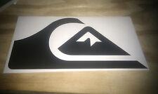 Quiksilver Vinile Snowboard Skate Surf Auto Camper Adesivo Vinile Nero 150mm