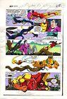 Original 1983 Iron Man 177 Marvel Comics color guide art page 25: 1980's