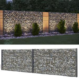 20m gabione steinkorb sichtschutz 1430mm anthrazit for Steinkorb sichtschutz