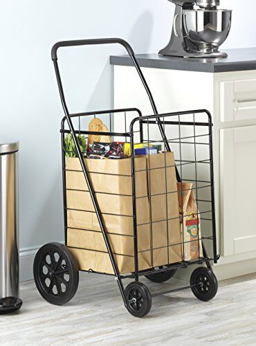 NEW Whitmor 6318 2678 Deluxe Rolling Utility Cart schwarz FREE SHIPPING