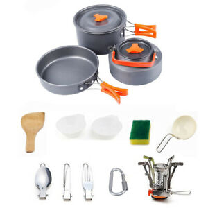 12Pcs-Outdoor-Camping-Hiking-Cookware-Cooking-Picnic-Pot-Pan-Set-For-1-2-Person