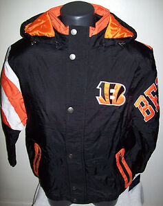 8bf0697f Details about CINCINNATI BENGALS STARTER KNOCKOUT Winter Jacket M, L, XL, 2X