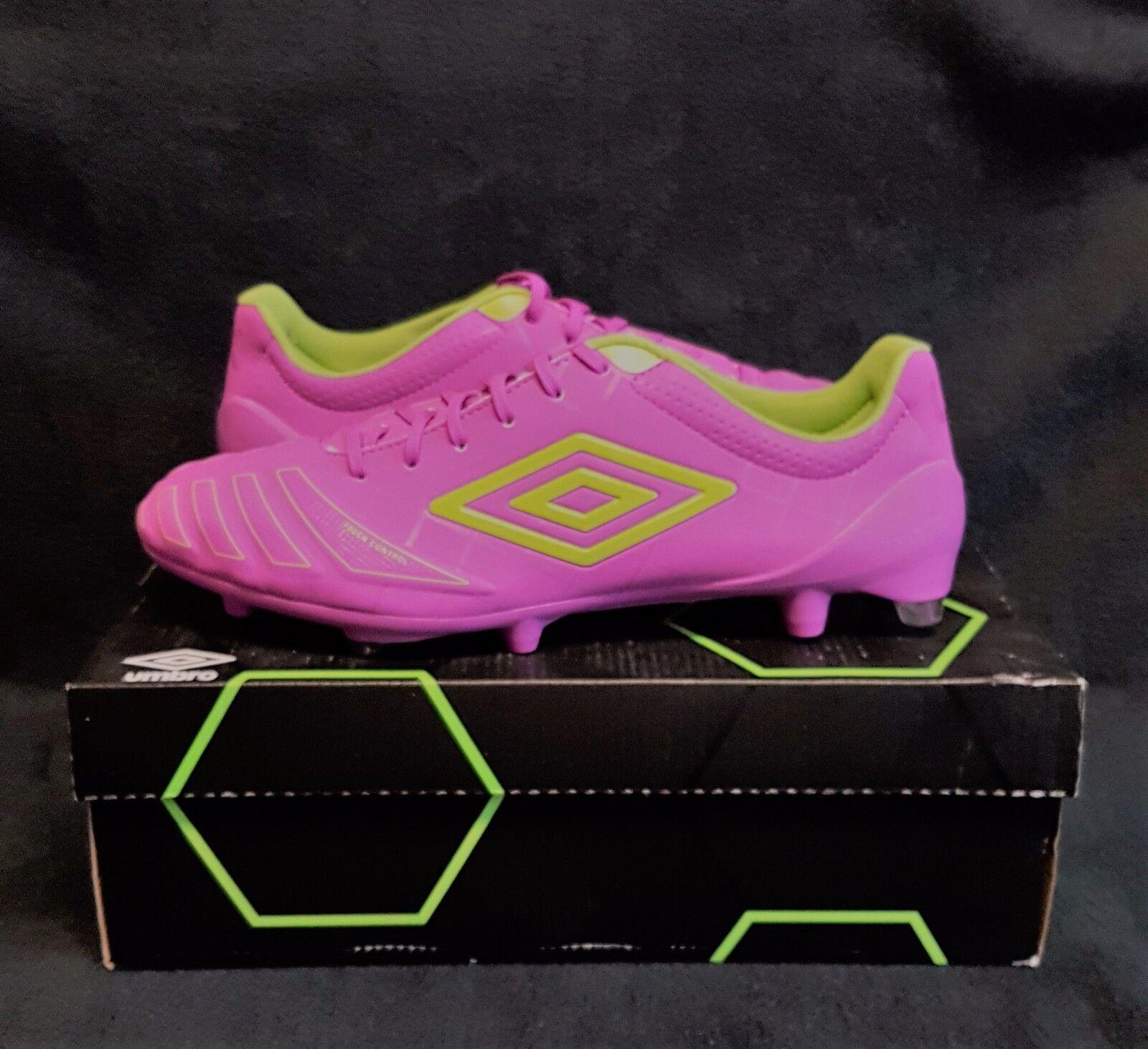 UMBRO UX ACCURO Pro HG FG Soccer Football Crampons (Sz 11.5) violet vert