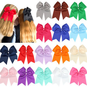 8-039-039-Girl-Cheerleading-Bow-Hair-Bands-Scrunchie-Elastic-Band-Rope-Ponytail-Holder
