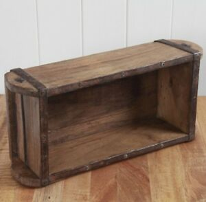 Image Is Loading Vintage Brick Mould Wooden Storage Tool Box Small