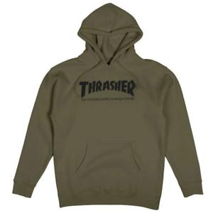 Original Thrasher Skate Mag Kapuzenpullover - Armee