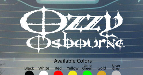 "OZZY OSBOURNE BIG SIZE VINYL DECAL STICKER 22.5/"" WIDE CUSTOM COLOR"