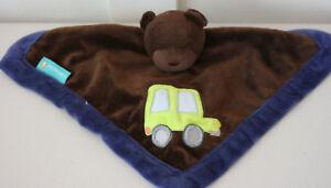 Tiddliwinks-Brown-Velour-Teddy-Bear-Baby-Security-Blanket-Lovey-Truck-Car-EUC