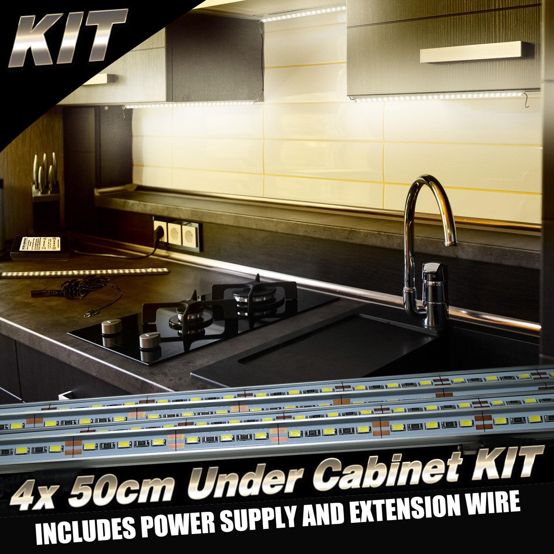 30cm Kitchen Under Cabinet Cupboard Shelf Counter Led: 6pcs Kit Kitchen Under Cabinet Counter LED Light Bar Warm