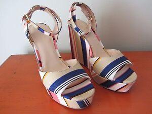 Kate-Spade-New-York-Dellie-Wedges-Size-8M-Berber-Stripe-Multi-NEW