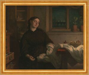 Art Contemplative Home Dreams Charles West Cope Schlafen Träumen Handarbeit Frauen B A3 01129