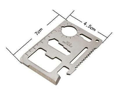 GOA  Multi Tool 11in1 Hunting Survival Camping Pocket Military Credit Card Knife