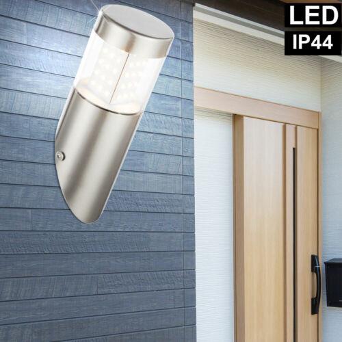 LED Wand Fackel Leuchte Garten Außen Hof Beleuchtung Edelstahl Fassaden Lampe