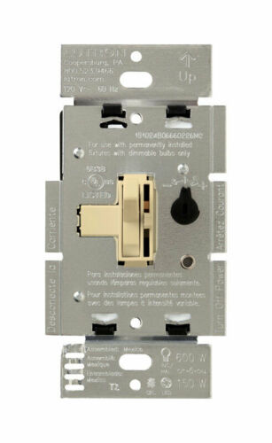 Lutron  Toggler  Ivory  150 watts 3-Way  Dimmer Switch