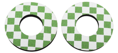 Pairs Green /& White ProBMX Flite Style Old School Style BMX Grip Donuts