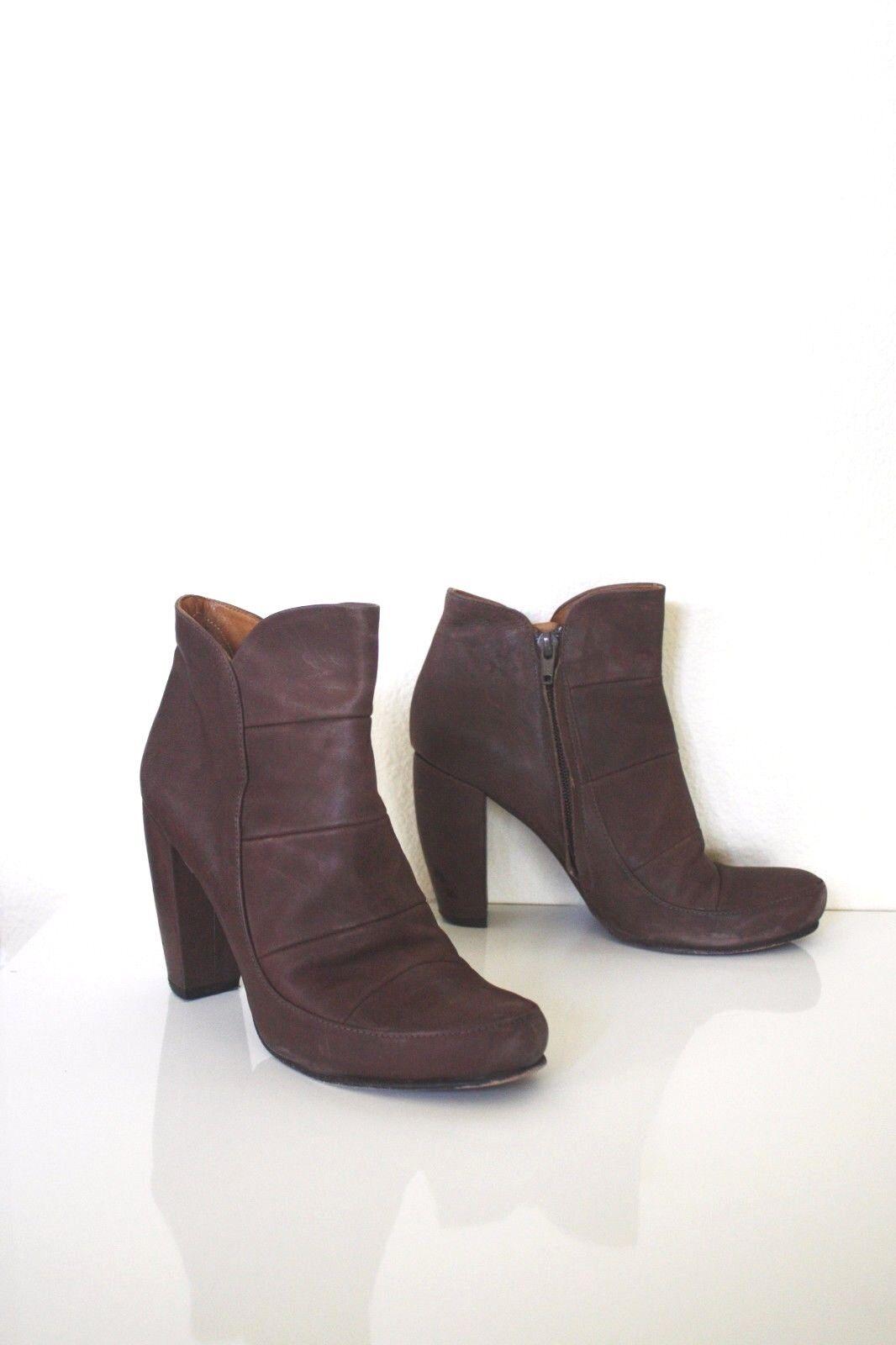 Coclico Coclico Coclico Cadby Botines 37 7 Cuero Marrón Taupe botas al Tobillo Zapatos De Anthropologie  entrega de rayos